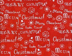 """Бумага Подарочная новогодняя 11 """"Merry Christmas красная"""" (70х100)"""
