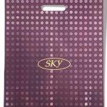 Пакет с прорезной ручкой тип «Serikoff» «Sky» бордовый (40*50) супер плотный с боковыми фальцами 25 шт