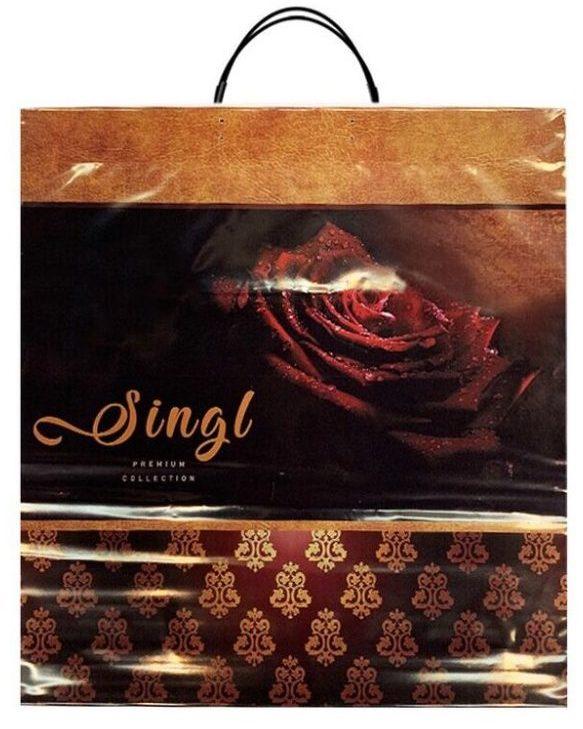 Пакет на пластиковой ручке «Singl» (40×45) 10 шт