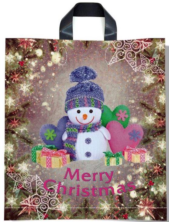 Пакет с петлевой ручкой тип «Диор» «Merry Christmas 3» (37*43) 25 шт