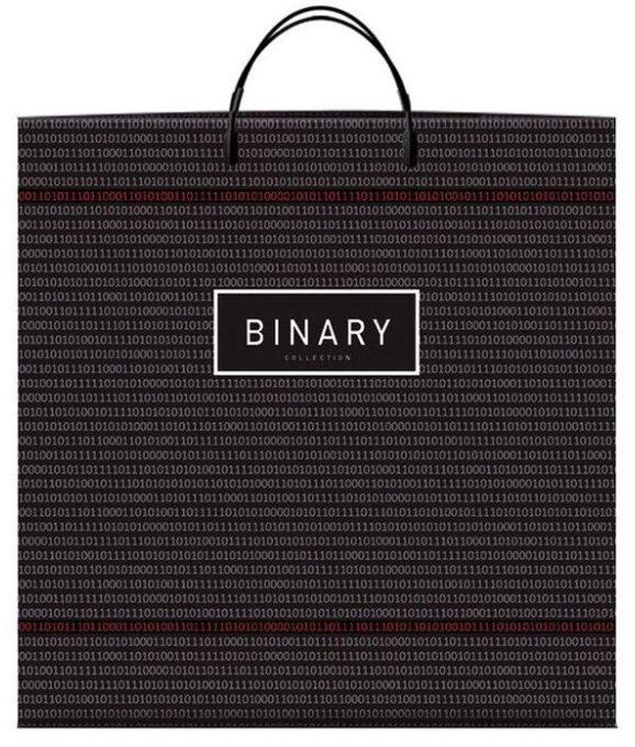 Пакет на пластиковой ручке «Binary» (40*40) 10 шт