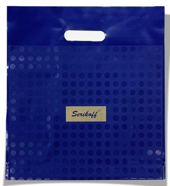 Пакет с прорезной ручкой тип «Serikoff» синий «Serikoff» (35*38) 25 шт