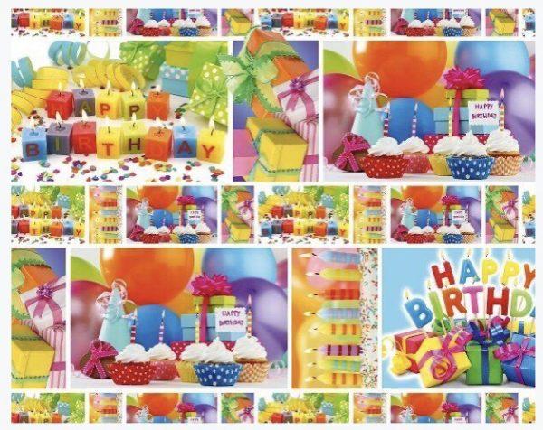 """Бумага Подарочная 60 """"Happy birth day 3"""" (70х100)"""
