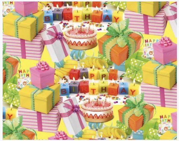 """Бумага Подарочная 56 """"Happy birth day 2"""" (70х100)"""