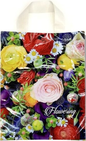 Пакет с петлевой ручкой маленький ламинированный «Flowering» (23*29) 25 шт