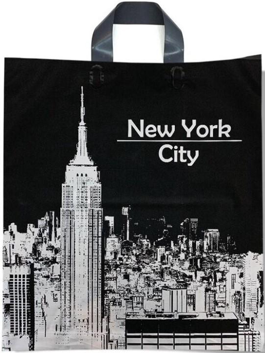 Пакет с петлевой ручкой тип «Диор» «New York City» (37*43) 25 шт