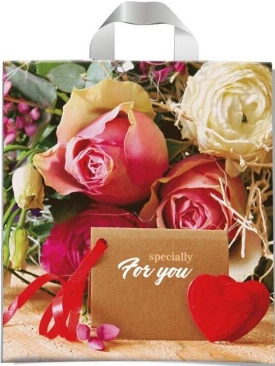 Пакет с петлевой ручкой тип «Диор» «Specially For You» (37*41) 25 шт