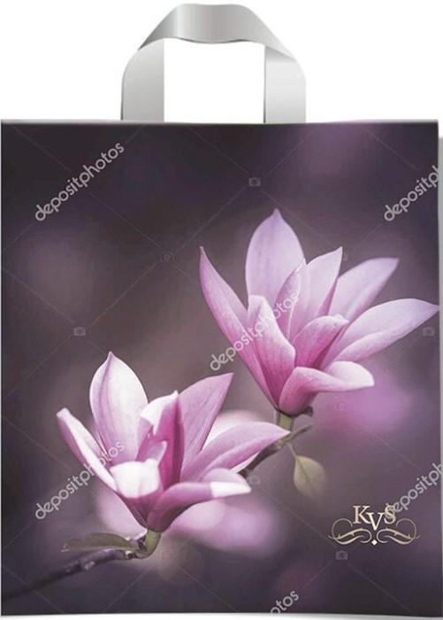 Пакет с петлевой ручкой тип «KVS» «Розовый Цветок» (43*42) 25 шт