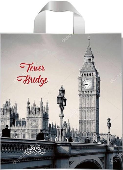 Пакет с петлевой ручкой тип «KVS» «Tower Bridge» (43*42) 25 шт