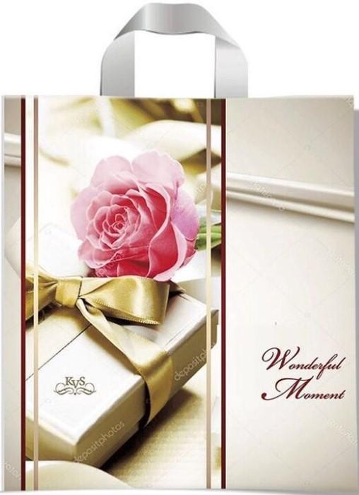Пакет с петлевой ручкой тип «KVS» «Wonderful Moment» (43*42) 25 шт