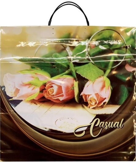 Пакет на пластиковой ручке «Casual» (40*40) 10 шт