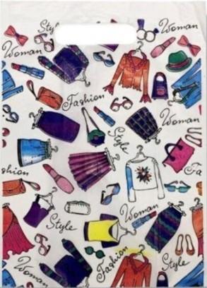 Пакет с прорезной ручкой тип мини «Fashion» (30*40) 50 шт