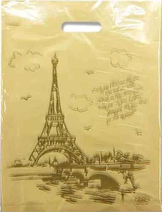 Пакет с прорезной ручкой тип мини «Paris» (30*40) 50 шт