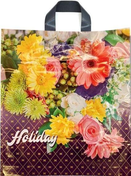 Пакет с петлевой ручкой тип «Диор» «Holiday» (37*41) 25 шт