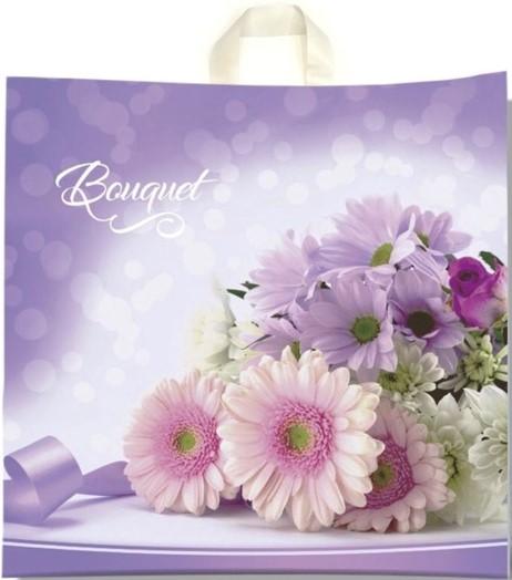 Пакет с петлевой ручкой «Bouquet» (40*40) 25 шт