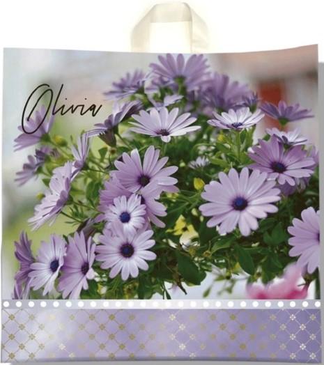 Пакет с петлевой ручкой «Olivia» (40*40) 25 шт