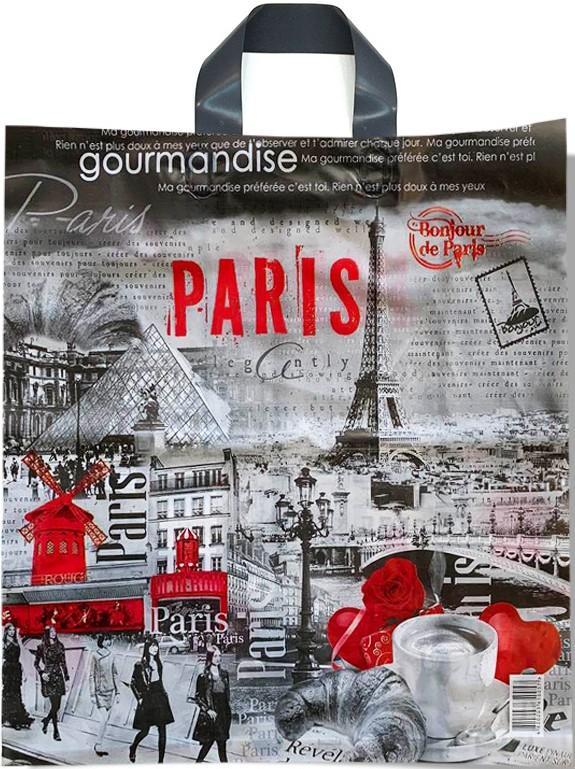 Пакет с петлевой ручкой тип «Диор» «Paris» (37*43) 25 шт