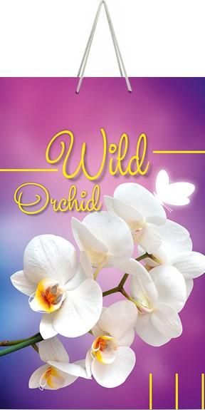 "Подарочный пакет картонный ""СРЕДНИЙ"" 68 ""Wild orchid"" (17х26х8)"
