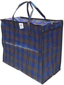 Клетчатая сумка баул
