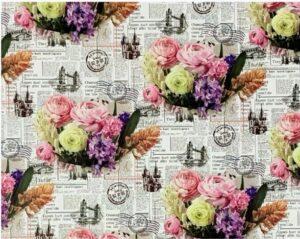 """Бумага Подарочная 87 """"Букет цветов"""" (70х100)"""