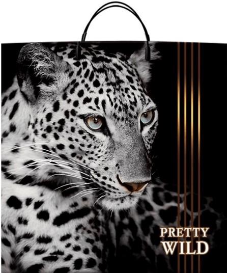 Пакет на пластиковой ручке «Pretty Wild» (40*40) 10 шт