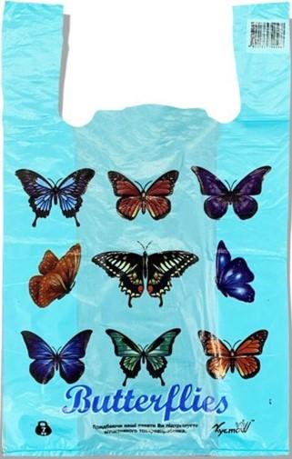 Пакет-майка «Butterflies» (28*45) 250 шт.
