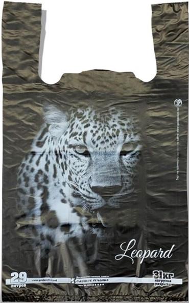 Пакет-майка «Leopard» «Золотое Сечение» (40*60) 50 шт.