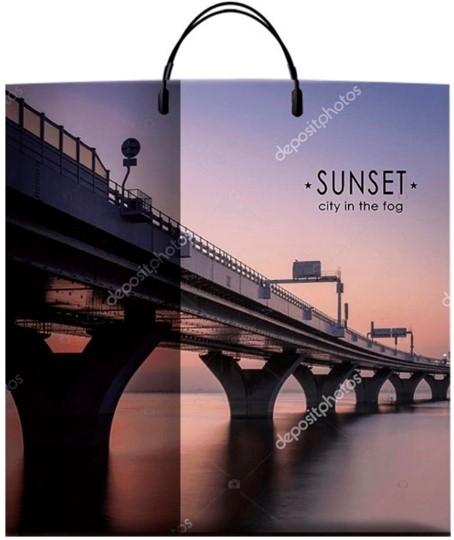 Пакет на пластиковой ручке «Sunset» (40*40) 10 шт