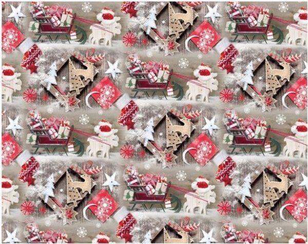 Бумага Подарочная новогодняя 49 (70х100)