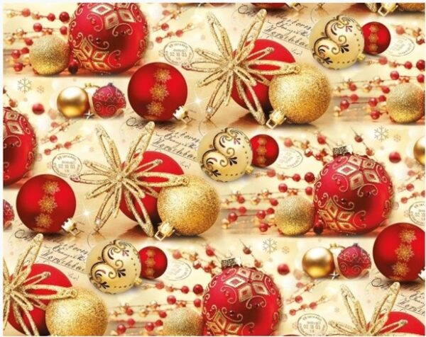 Бумага Подарочная новогодняя 52 (70х100)