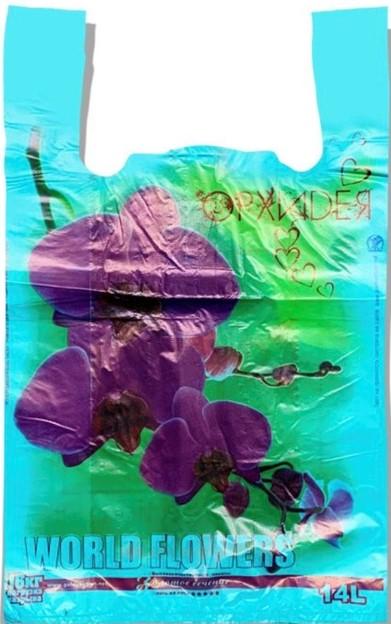 Пакет-Майка «Орхидея» бирюзовый Золотое Сечение (29*45) 250 шт