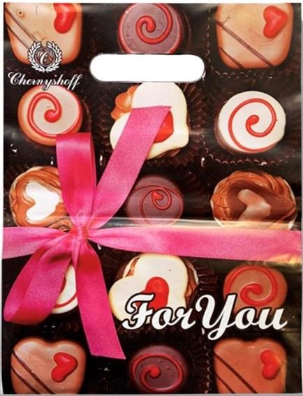 Пакет с прорезной ручкой «For You» (20*30) 50 шт