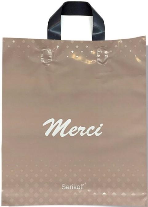 Пакет с петлевой ручкой тип «Serikoff» «Merci» (30*35) 25 шт