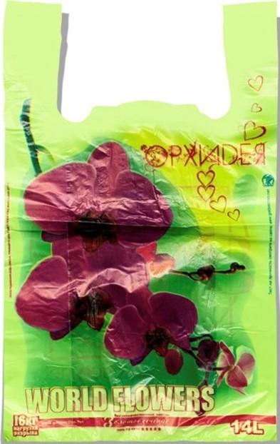 Пакет-Майка «Орхидея» салатовый Золотое Сечение (29*45) 250 шт