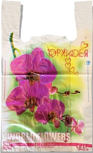 Пакет-Майка «Орхидея» белый Золотое Сечение (29*45) 250 шт