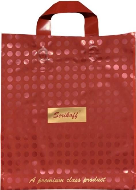 Пакет с петлевой ручкой тип «Serikoff» Serikoff красный (30*35) 25 шт