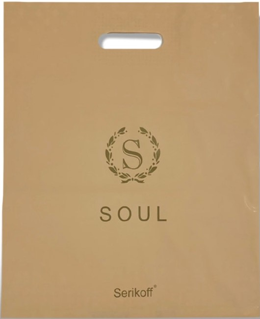 Пакет с прорезной ручкой тип «Serikoff» «Soul» бежевый (40*47) 25 шт
