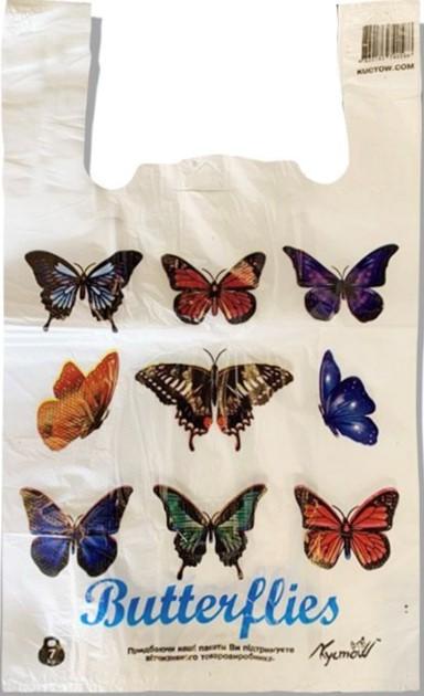 Пакет-Майка «Butterflies» белый (28×45) 250 шт