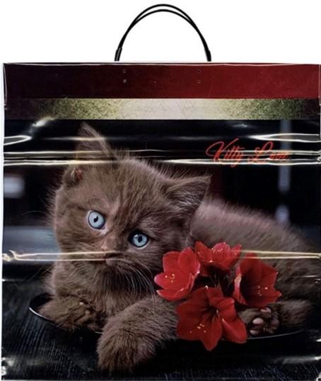 Пакет на пластиковой ручке «Kitty Love» (40*40) 10 шт