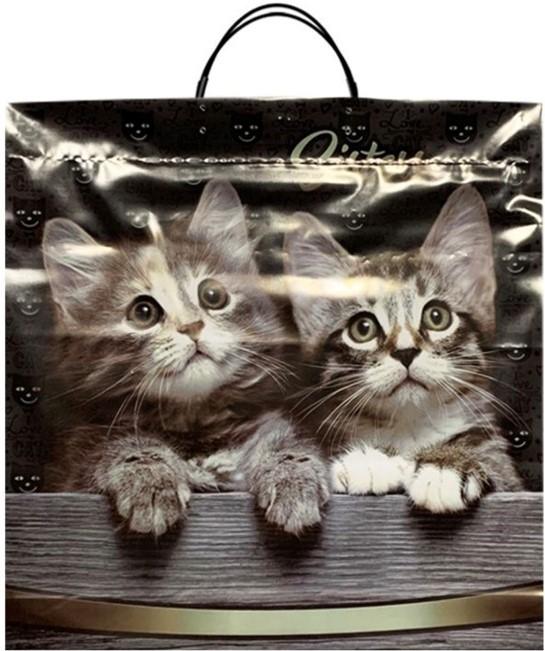 Пакет на пластиковой ручке «Cats» (36*37) 10 шт