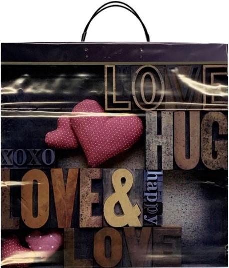 Пакет на пластиковой ручке «Love» (40*40) 10 шт